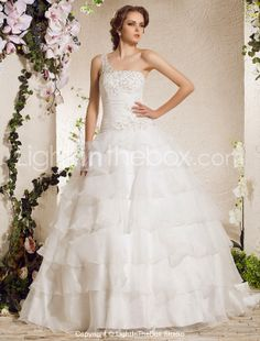 (Limited Supply) Click Image Above: Ball Gown One Shoulder Court Train Organza Weeding Dress Cheap Wedding Dresses Online, Wedding Dresses Photos, Wedding Dresses For Sale, Prom Party Dresses, Ball Dresses, Bridal Dresses, Ball Gowns, Bridesmaid Dresses, Dresses 2013