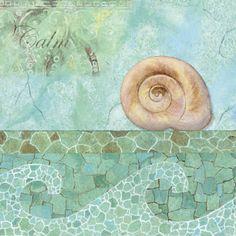 Laminas decoupage: el mar...conchas