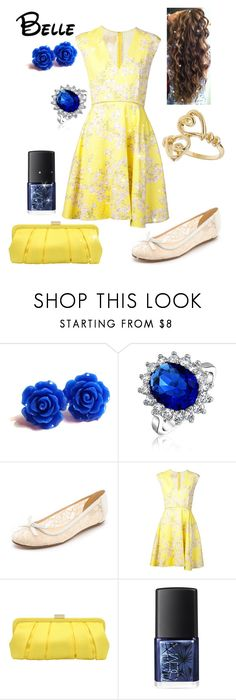 """Disney - Belle"" by briony-jae ❤ liked on Polyvore featuring Bling Jewelry, Kate Spade, Giambattista Valli, Nina, NARS Cosmetics and Miss Selfridge"