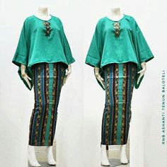 Batik Fashion, Ethnic Fashion, Hijab Fashion, Fashion Outfits, Womens Fashion, African Fashion Skirts, African Print Dresses, Blouse Batik, Batik Dress