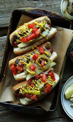 All the hot dogs recipe under the sun. Shown= Kosher Italian Beef topped Chicago Dog