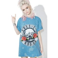 Appetite Fer Destruction Tee (49 AUD) ❤ liked on Polyvore featuring tops, t-shirts, destroyed tee, graphic design t shirts, graphic design tees, destroyed t shirt and blue t shirt