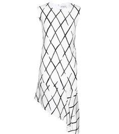 Balenciaga Graphic Net Frill Crepe Dress For Spring-Summer 2017