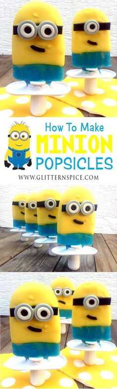 How to make Minion Popsicles for a movie watching or birthday party. Zoku popsicle recipe.