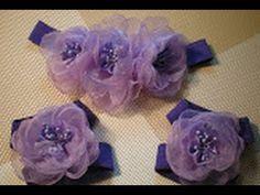 Цветок-повязка для волос и украшение на ножки для малышки своими руками. / DIY Flowers - YouTube