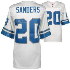 Barry Sanders Detroit Lions Fanatics Authentic Autographed White Mitchell    Ness Replica Jersey 04a6f0c85