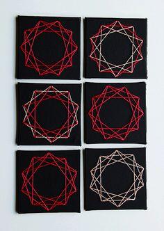 DIY Geometric String Art Escort Cards by Oh Happy Day