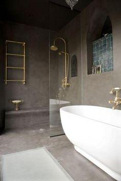 love the inset shelf Guest Suite, Beautiful Bathrooms, Bathtub, Shelves, Interior Design, Modern, Dream Homes, Oasis, Bathroom Ideas