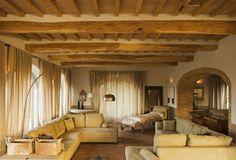 Lounge at Conti di San Bonifacio wine resort in Tuscany.