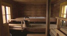 A 100-year-old sauna. Pretty well the kind I'm used to. It doesn't need to be fancy...just hot!
