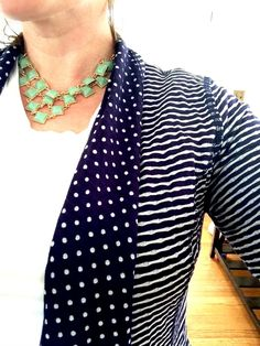 Stitch Fix Market and Spruce Margerie Stripe and Dot Open Cardigan - love the mix of patterns https://www.stitchfix.com/referral/4355670