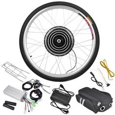 Adult Electric Bicycles - AW Rear Wheel Electric Bicycle Motor Kit EBike Cycling Set Outdoor Gym Dual Mode Controller -- For more information, visit image link. Bullitt Bike, Electric Bicycle Kit, Powered Bicycle, Motorised Bike, Outdoor Gym, Motor Works, Cycling Bikes, Cycling Equipment, Cool Bikes