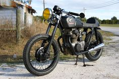 cafe motorcycle paint jobs | Custom 1971 Honda CB350 Cafe Racer by Steel Bent Customs