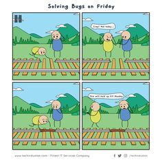 programming solving friday jokes bugs in Solving Bugs in Friday Programming JokesYou can find Programmer jokes and more on our website Friday Jokes, It Services Company, Programming Humor, Computer Humor, Tech Humor, Friday Motivation, Technology Humor, Learn To Code, Friday Feeling