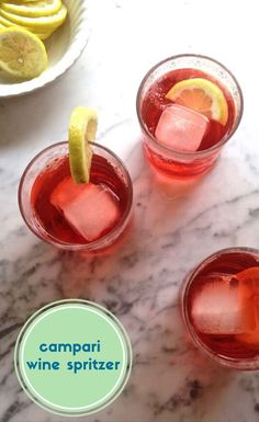 A simple drink idea: bittersweet, fire-red Campari mixed with dry white wine, a fizzy splash of cold sparkling water and a few thin lemon slices. Learn how to make this easy, refreshing wine cocktail with only 3 ingredients. Low in alcohol this is a perfect summertime sipper. | How to make cocktails at home | Homemade cocktail ideas | #wine #easyrecipe #cocktailrecipes #campari