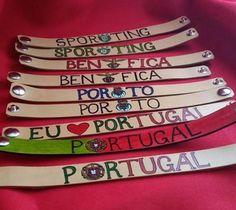 #couro #pulseiras #clubes#portugal #euamoportugal #fcporto #benfica #sporting #futebol #personalizar #leather #bracelets #clubs #soccer…