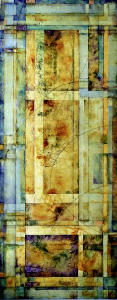 Springdrive by Lisa Bick - Encaustic and mixed media on panel. 60 x 24 in.