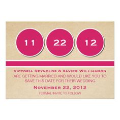 Modern Circles Save the Date Announcement, Pink