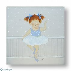 Cuadro infantil personalizado: Niña bailarina (ref. 10196)