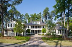 South Carolina-A beautiful home on the May River in Palmetto Bluff by Historical Concepts Low Country Homes, Southern Living Homes, Coastal Homes, Country Houses, Traditional Home Exteriors, Traditional House, This Ole House, Historical Concepts, Charleston Style