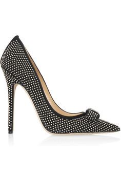 Jimmy Choo | Maya studded suede pumps