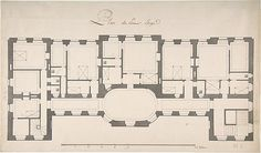 Ground Plan for Second Floor of a Palace