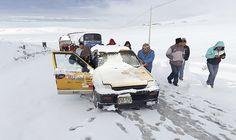 Nieve cubre mas de 50 kilómetros Arequipa Puno