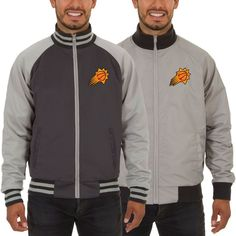 Phoenix Suns JH Design Reversible Track Jacket - Gray