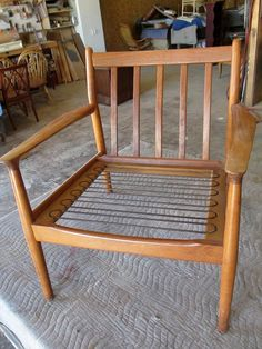 How to Refinish a Vintage Midcentury Modern Chair : Home Improvement : DIY Network