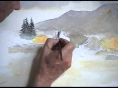 David Bellamy demonstrates a farmyard in watercolor