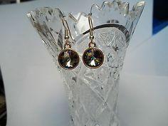 Swarovski *Peacock* Earrings...made by Chubbychick