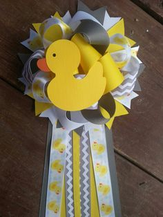 Rubber Duck baby shower mum by bonbow on Etsy
