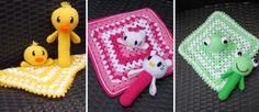 Knuffeldoekjes en rammelaars (gratis patroon rammelaar)