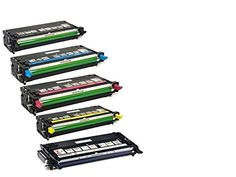 A PlusDell 3110 Combo Set of 5 Remanufactured High Capacity and Good Quality Laser Toner Cartridges (2Black, Cyan, Magenta, Yellow)
