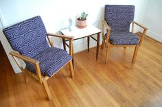 Bentwood Wooden Arm Chairs 1970s Vintage set of 2 by ljindustries, $395.00