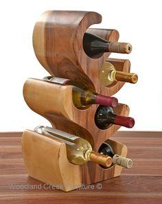 Unique Wood Wine Bottle Holder