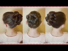 Quick and Easy Flower Bun Hairstyle   School Hairstyles   Braidsandstyles12 - YouTube