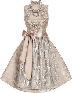 Designer Dirndl Lesandra - Brautdirndl, champagner-silber | Dirndltopia | [S♥]