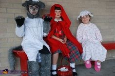 Little Red Riding Hood, Big Bad Wolf and Granny - Halloween costume ideas