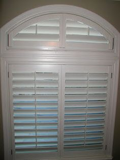 Eyebrow Windows give you a frown when trying to cover, Plantation Shutters will make you smile