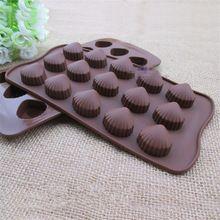 Chegada nova Forma da Concha de Silicone Sorvete Molde Pudim de Geléia De Chocolate Molde 3D Sugarcrafts Fondant Bolo Que Decora Ferramenta DIY(China (Mainland))