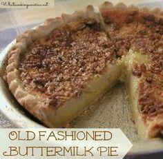 Old Fashioned Buttermilk Pie Recipe  | whatscookingamerica.net  | #buttermilk #pie #dessert