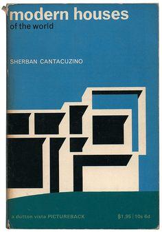 Mid-century minimal book cover design