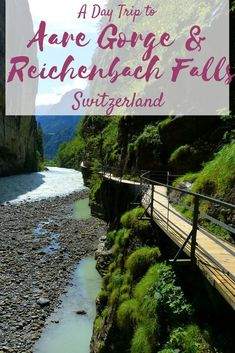 Aare Gorge is a non-touristy gem in the cradle of Hasli Valley in Bernese Oberland region of Switzerland. Aare Gorge along with Reichenbach Falls makes for a wonderful day trip to Bernese Oberland.