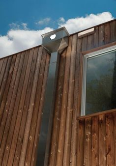 Architectural rain water collecting system from Dwell