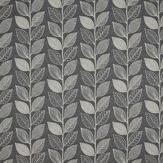 BuyJohn Lewis Amy Leaf Furnishing Fabric, Grey Online at johnlewis.com