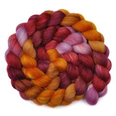 Silk / Polwarth 40/60% Wool Roving - Inner Beauty 2 - 4.1 ounces