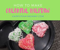 It is easy to make colorful palitaw. Let me teach you how through this colored palitaw recipe. Making this with your kids will also be a great bonding activity Palitaw Recipe, Easy Filipino Recipes, Recipe Making, Bonding Activities, Asian Snacks, Quick Easy Meals, Colorful, Cooking, Koken