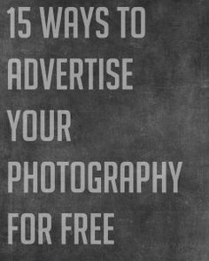 advertise photography for free