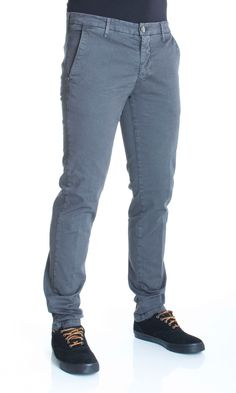 HAMAKI-HO | Pantaloni HAMAKI-HO Cotone Stretch Fashion Fit Col. Grigio su Dursoboutique.com PS614H